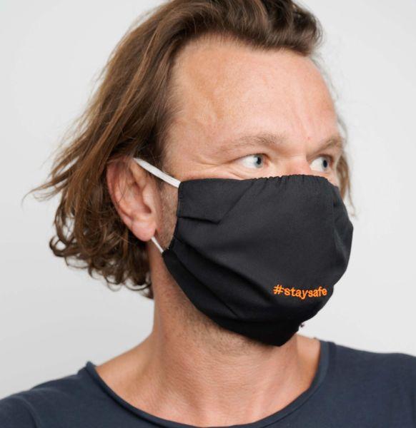 Mundmaske kaufen 2 Mund-Nasen-Masken mit Tasche, Polyester Cotton Mix
