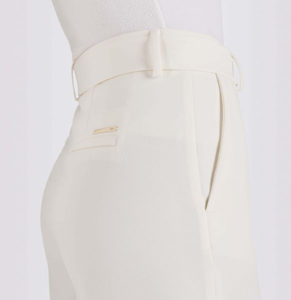 Chiara Cropped Belt, Bistretch Crepe