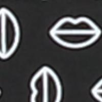 Mund-Nasen-Maske mit Tasche schwarztöne black printed 091B
