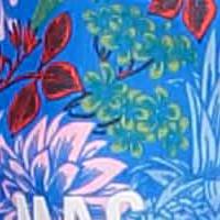 2 Mund-Nasen-Masken mit Tasche, Polyester Cotton Mix blautöne blue aster printed 163B