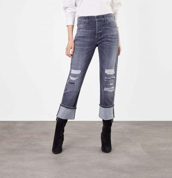 Rich Straight Turn Up, Organic Stretch Denim