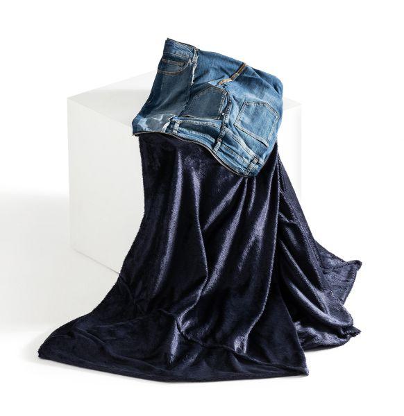 Jeans-Kissen und -Accessoires, MAC Living Collection Denim Pillow Blanket 40x40, Denim Patch