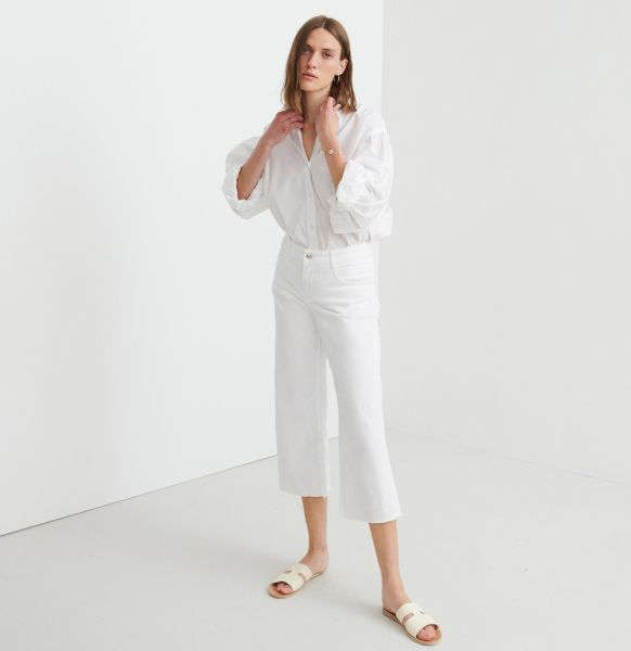 Greta Fringe Clean, Light Weight Denim