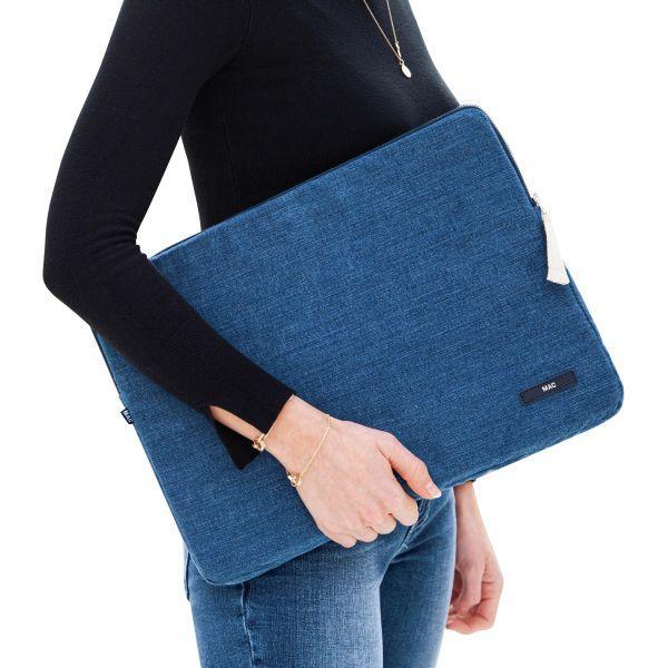 Jeans-Kissen und -Accessoires, MAC Living Collection Laptop Case , Denim Patch