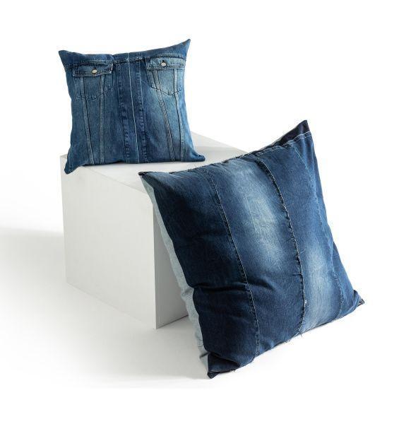 Denim Pillow 50x50, Denim Patch
