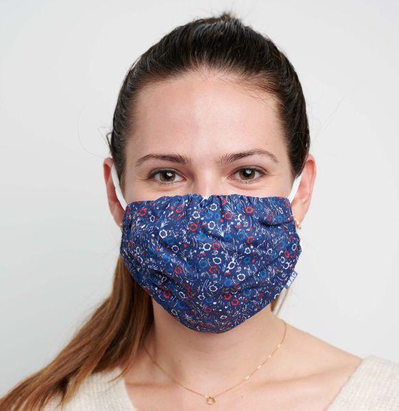 2 Mund-Nasen-Masken mit Tasche, Polyester Cotton Mix