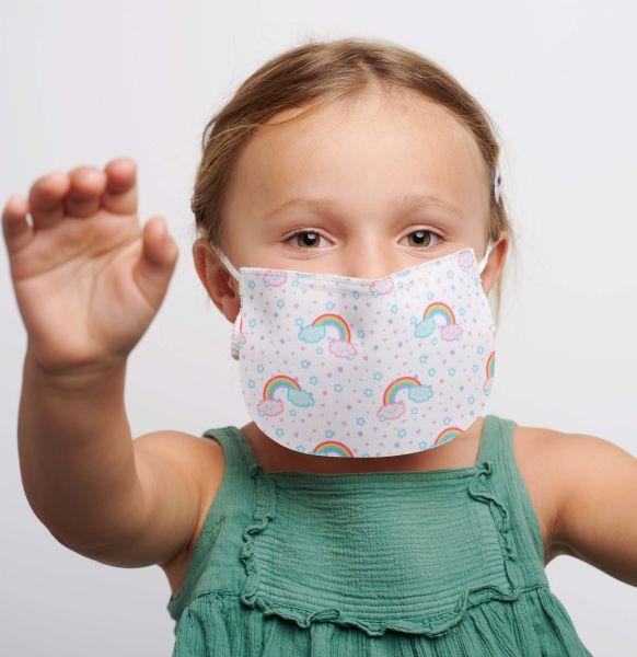 2 Kinder Mund-Nasen-Masken V2